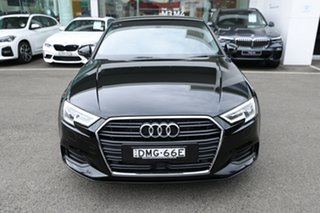 2016 Audi A3 8V MY16 1.4 TFSI Attraction CoD Brilliant Black 7 Speed Auto Direct Shift Sedan