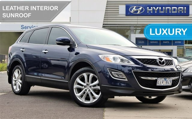 Used Mazda CX-9 TB10A4 MY12 Luxury South Melbourne, 2012 Mazda CX-9 TB10A4 MY12 Luxury Blue 6 Speed Sports Automatic Wagon