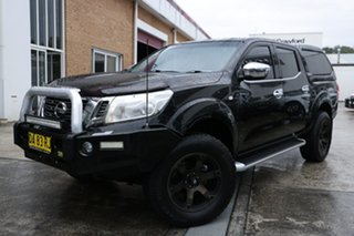 2015 Nissan Navara D23 ST King Cab Black 7 Speed Sports Automatic Utility.
