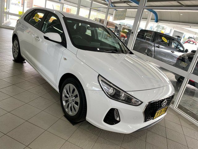Used Hyundai i30 Go Taree, 2019 Hyundai i30 Go White Sports Automatic Hatchback