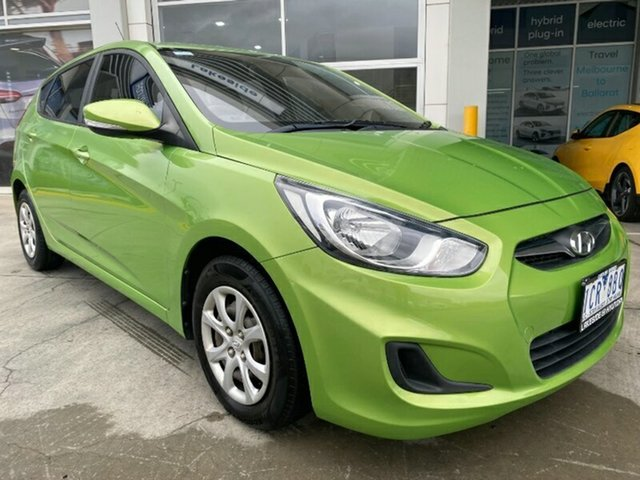 Used Hyundai Accent RB2 MY15 Active Ravenhall, 2014 Hyundai Accent RB2 MY15 Active Green 4 Speed Sports Automatic Sedan