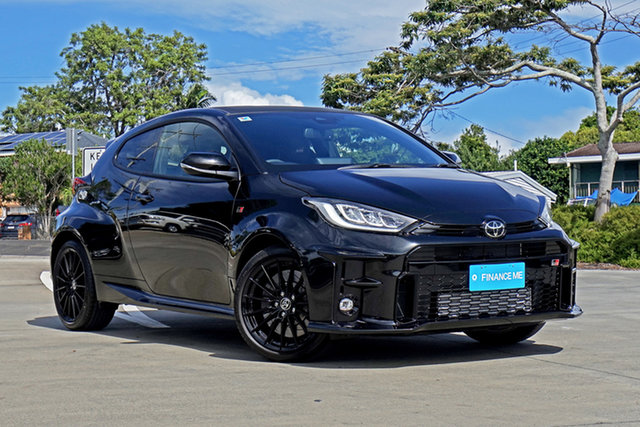 Used Toyota Yaris Gxpa16R GR Capalaba, 2021 Toyota Yaris Gxpa16R GR Black 6 Speed Manual Hatchback