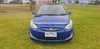 2011 Hyundai Accent RB Premium Blue Ocean 4 Speed Sports Automatic Hatchback.