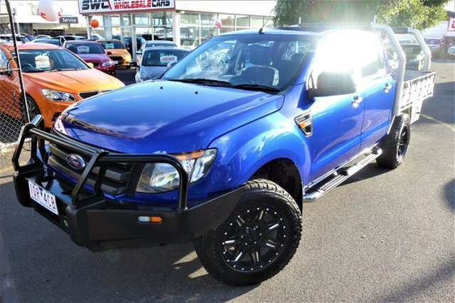 Used Ford Ranger PX MkII XL Hi-Rider Seaford, 2015 Ford Ranger PX MkII XL Hi-Rider Blue 6 Speed Sports Automatic Cab Chassis