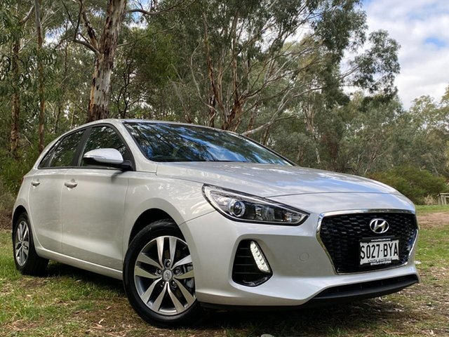 Used Hyundai i30 PD2 MY19 Active Reynella, 2018 Hyundai i30 PD2 MY19 Active Sleek Silver 6 Speed Sports Automatic Hatchback