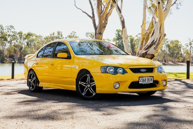 Used Ford Falcon BF XR6 Loxton, 2005 Ford Falcon BF XR6 Yellow 6 Speed Auto Seq Sportshift Sedan