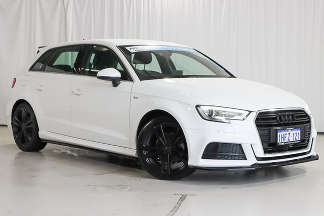 Used Audi A3 8V MY20 35 TFSI Sportback S Tronic S Line Plus Wangara, 2019 Audi A3 8V MY20 35 TFSI Sportback S Tronic S Line Plus White 7 Speed