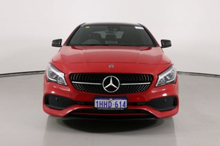 2017 Mercedes-Benz CLA250 117 MY17 4Matic Red 7 Speed Auto Dual Clutch Coupe.