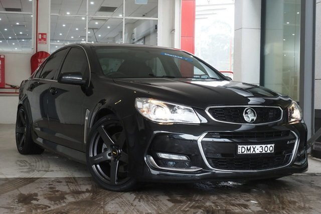 Used Holden Commodore VF II MY16 SS V Parramatta, 2015 Holden Commodore VF II MY16 SS V Black 6 Speed Manual Sedan