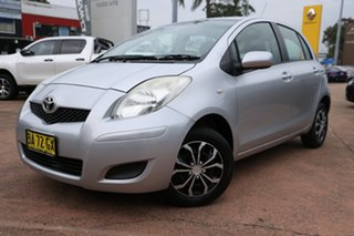 2009 Toyota Yaris NCP90R 08 Upgrade YR Silver 4 Speed Automatic Hatchback.