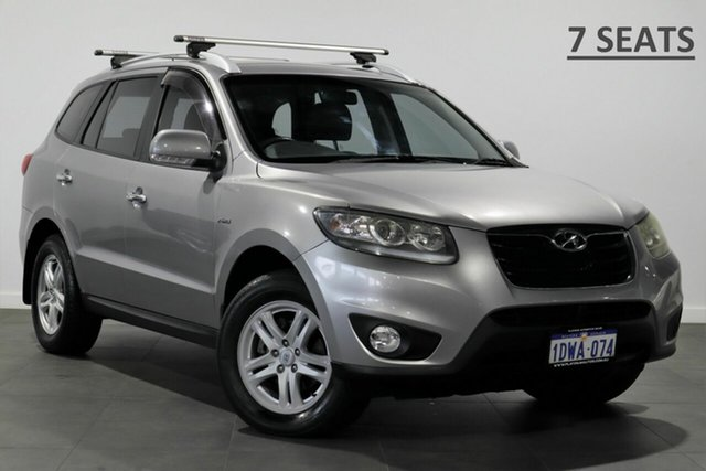 Used Hyundai Santa Fe CM MY10 Elite Bayswater, 2010 Hyundai Santa Fe CM MY10 Elite Silver 6 Speed Sports Automatic Wagon
