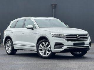 2020 Volkswagen Touareg CR MY21 210TDI Tiptronic 4MOTION Elegance White 8 Speed Sports Automatic.