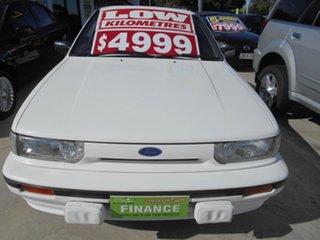 1991 Ford Corsair UA GL White 5 Speed Manual Liftback.