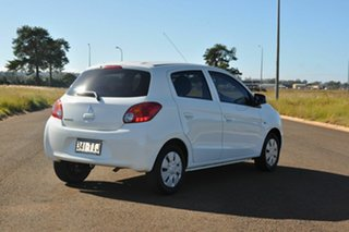 2013 Mitsubishi Mirage LA ES White Continuous Variable Hatchback