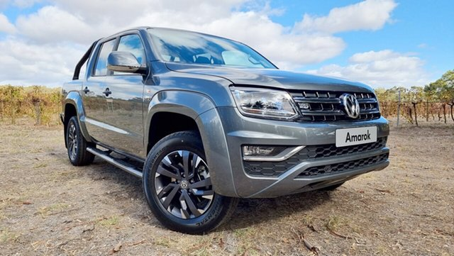 Demo Volkswagen Amarok 2H MY21 TDI580 4MOTION Perm Highline Tanunda, 2020 Volkswagen Amarok 2H MY21 TDI580 4MOTION Perm Highline Indium Grey 8 Speed Automatic Utility