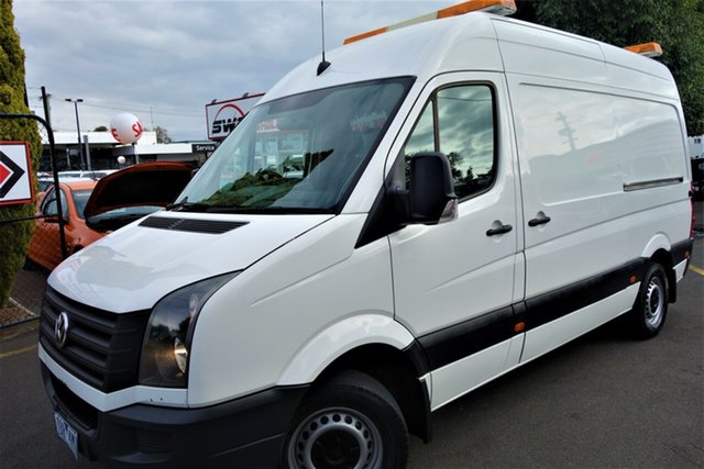 Used Volkswagen Crafter 2ED1 MY14 35 MWB TDI340 Seaford, 2014 Volkswagen Crafter 2ED1 MY14 35 MWB TDI340 White 6 Speed Manual Van