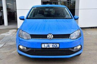 2017 Volkswagen Polo 6R MY17 66TSI DSG Trendline Blue 7 Speed Sports Automatic Dual Clutch Hatchback