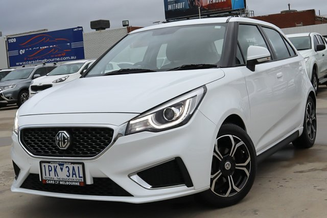 Used MG MG3 SZP1 MY18 Excite Coburg North, 2019 MG MG3 SZP1 MY18 Excite White 4 Speed Automatic Hatchback