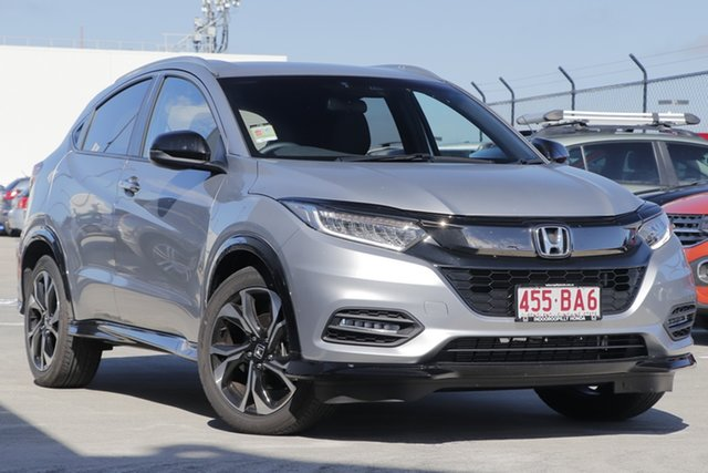 Demo Honda HR-V MY21 RS Indooroopilly, 2020 Honda HR-V MY21 RS Lunar Silver 1 Speed Constant Variable Hatchback