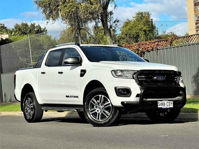 Used Ford Ranger PX MkIII 2020.25MY Wildtrak Hyde Park, 2020 Ford Ranger PX MkIII 2020.25MY Wildtrak White 6 Speed Sports Automatic Double Cab Pick Up
