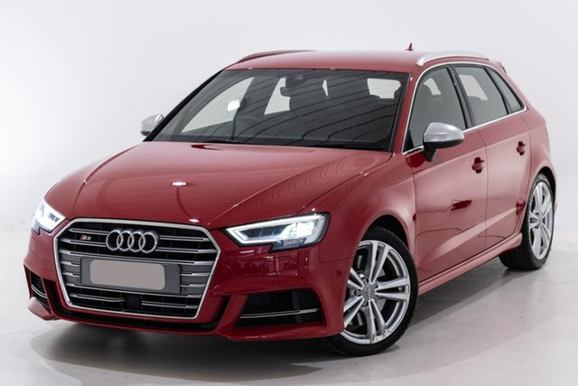 Used Audi S3 8V MY18 Sportback S Tronic Quattro Berwick, 2018 Audi S3 8V MY18 Sportback S Tronic Quattro Red 7 Speed Sports Automatic Dual Clutch Hatchback