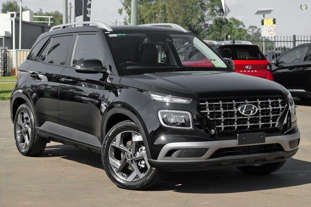 New Hyundai Venue QX.V3 MY21 Elite Oakleigh, 2021 Hyundai Venue QX.V3 MY21 Elite Black 6 Speed Automatic Wagon