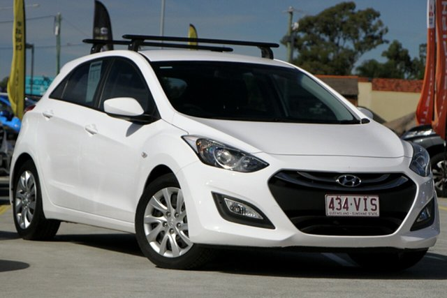 Used Hyundai i30 GD3 Series II MY16 Active Aspley, 2014 Hyundai i30 GD3 Series II MY16 Active White 6 Speed Sports Automatic Hatchback