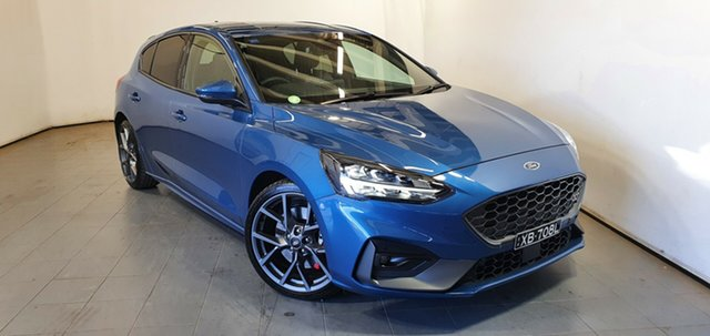 Demo Ford Focus SA 2021MY ST Elizabeth, 2020 Ford Focus SA 2021MY ST Ford Performance Blue 7 Speed Automatic Hatchback