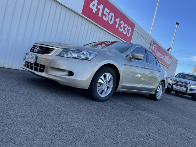 Used Honda Accord 8th Gen MY10 VTi Bundaberg, 2010 Honda Accord 8th Gen MY10 VTi Gold 5 Speed Sports Automatic Sedan