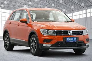 2016 Volkswagen Tiguan 5N MY17 132TSI DSG 4MOTION Comfortline Orange 7 Speed.