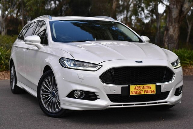Used Ford Mondeo MD Titanium Enfield, 2015 Ford Mondeo MD Titanium White 6 Speed Sports Automatic Dual Clutch Wagon