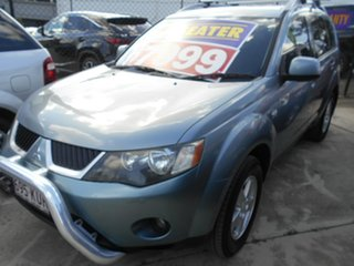 2008 Mitsubishi Outlander ZG MY08 VR Blue 6 Speed Sports Automatic Wagon.