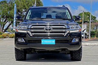 2018 Toyota Landcruiser VDJ200R Sahara Black 6 Speed Sports Automatic Wagon.