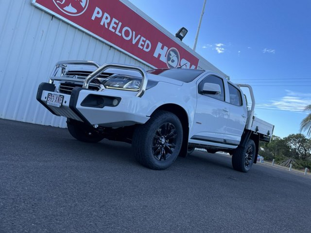 Used Holden Colorado RG MY18 LS Crew Cab Bundaberg, 2017 Holden Colorado RG MY18 LS Crew Cab White 6 Speed Sports Automatic Cab Chassis