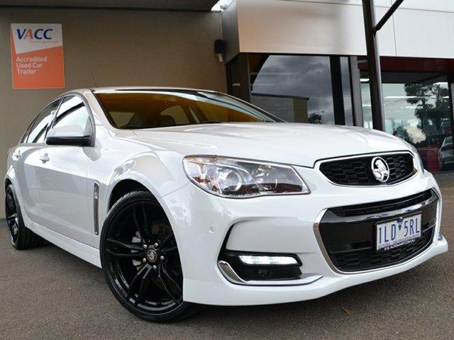 Used Holden Commodore VF II MY17 SV6 Fawkner, 2017 Holden Commodore VF II MY17 SV6 White 6 Speed Sports Automatic Sedan