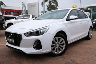 2018 Hyundai i30 PD Go White 6 Speed Auto Sequential Hatchback.