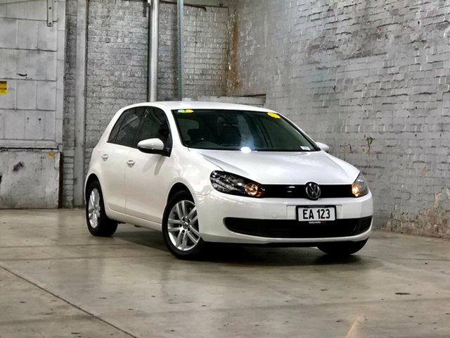 Used Volkswagen Golf VI MY12.5 118TSI DSG Comfortline Mile End South, 2012 Volkswagen Golf VI MY12.5 118TSI DSG Comfortline White 7 Speed Sports Automatic Dual Clutch