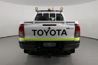 2017 Toyota Hilux GUN126R SR (4x4) White 6 Speed Manual Dual Cab Utility