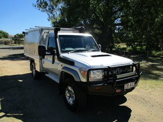 2010 Toyota Landcruiser VDJ79R 09 Upgrade GXL (4x4) Silver Pearl 5 Speed Manual Cab Chassis.