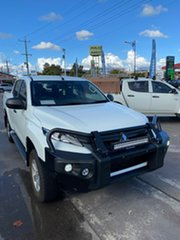 2018 Mitsubishi Triton MR MY19 GLX Double Cab White 6 Speed Manual Utility.