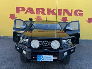 2016 Toyota Hilux GUN126R SR5 Double Cab Black 6 Speed Sports Automatic Utility.