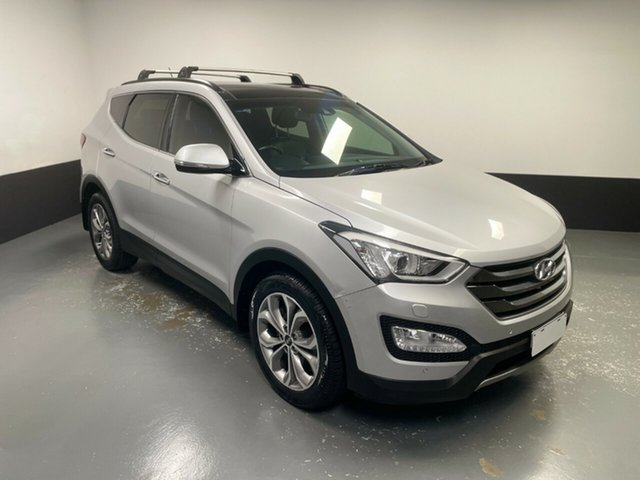 Used Hyundai Santa Fe DM2 MY15 Highlander Hamilton, 2014 Hyundai Santa Fe DM2 MY15 Highlander Silver 6 Speed Sports Automatic Wagon
