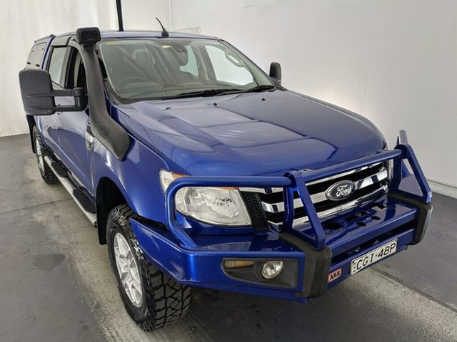 Used Ford Ranger PX XLT Super Cab Maryville, 2012 Ford Ranger PX XLT Super Cab Blue 6 Speed Manual Utility