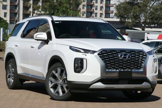 2021 Hyundai Palisade LX2.V1 MY21 Highlander 2WD White Cream 8 Speed Sports Automatic Wagon.