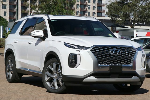 New Hyundai Palisade LX2.V1 MY21 Highlander 2WD Toowoomba, 2021 Hyundai Palisade LX2.V1 MY21 Highlander 2WD White Cream 8 Speed Sports Automatic Wagon