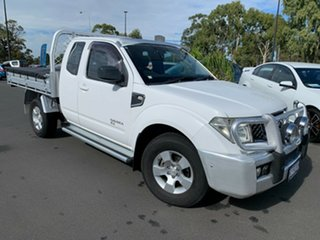 2009 Nissan Navara D40 RX King Cab White 5 Speed Automatic Cab Chassis.