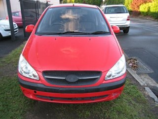 2010 Hyundai Getz TB MY09 SX Red 4 Speed Automatic Hatchback.