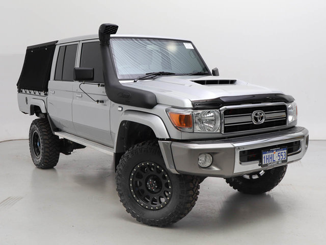 Used Toyota Landcruiser 70 Series VDJ79R GXL, 2020 Toyota Landcruiser 70 Series VDJ79R GXL Silver 5 Speed Manual Double Cab Chassis