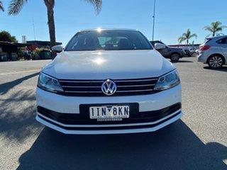 2016 Volkswagen Jetta 1B 118TSI Comfortline White Sports Automatic Dual Clutch Sedan.