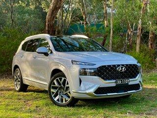 2020 Hyundai Santa Fe Tm.v3 MY21 Highlander CRDi (AWD) Glacier White 8 Speed Auto Dual Clutch Wagon.